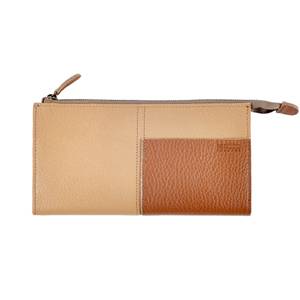 Two tone Wallet_L (beige / brown)