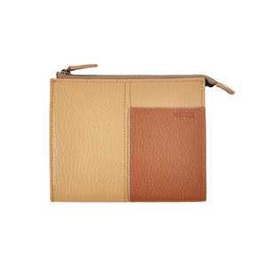 Two tone Wallet_M (beige / brown)